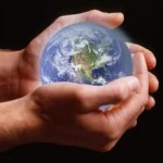 Image - marble globe cupped in hands